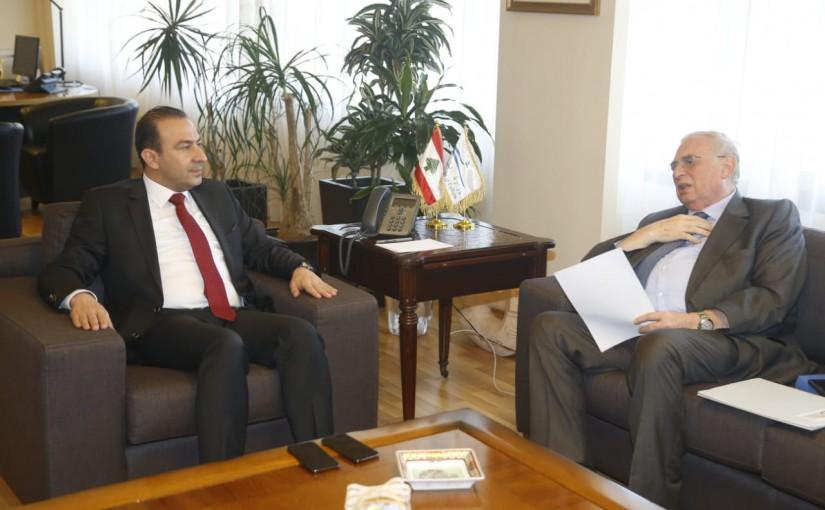 Minister Abass Morthada meets MP Farid Boustania