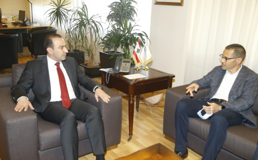 Minister Abass Morthada meets MP Fady Harakeh