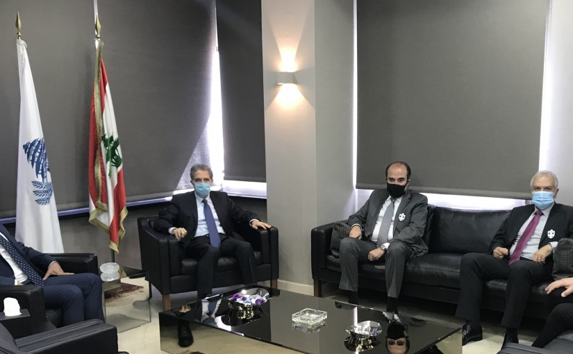Minister Ghazi Wazni meets MP George Akids with a Delegation
