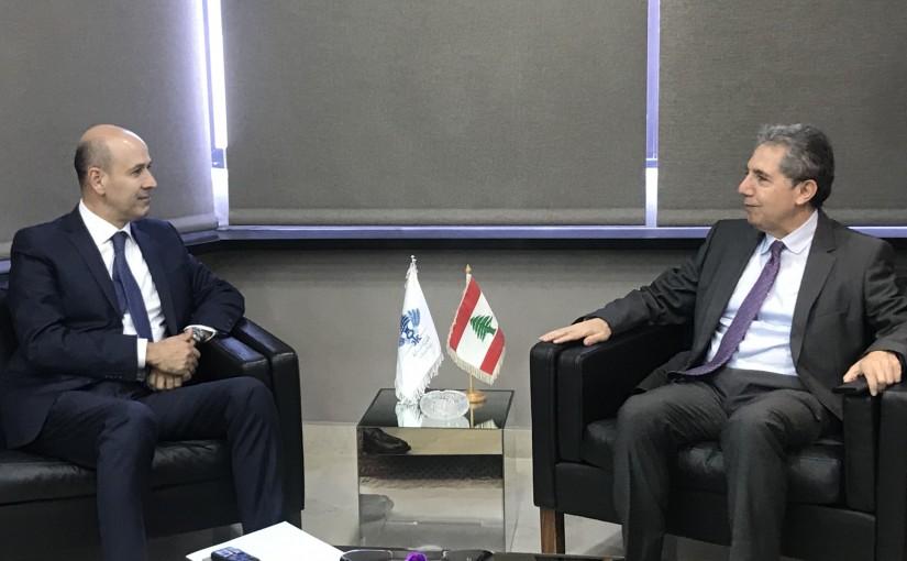Minister Ghazi Wazni meets Judge Mouhamad Bedran