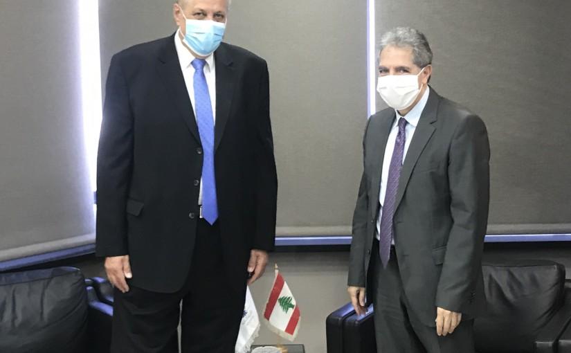 Minister Ghazi Wazni meets Mr Yan Kobish