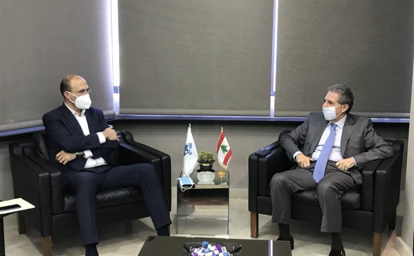 Minister Ghazi Wazni meets Minister Hassan Hamad