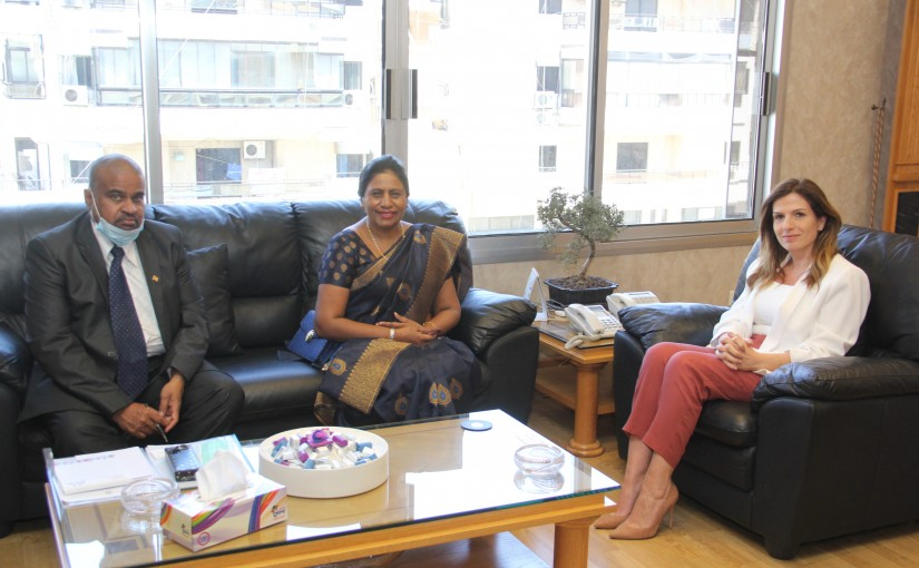 Minister Lamya Yamin meets Srilanka Ambassador