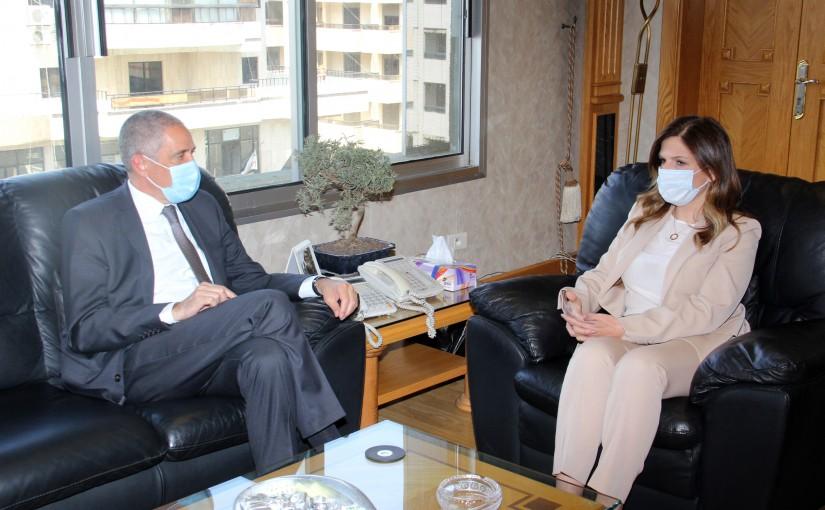 Minister Lamia Yamine Meets European Ambassador