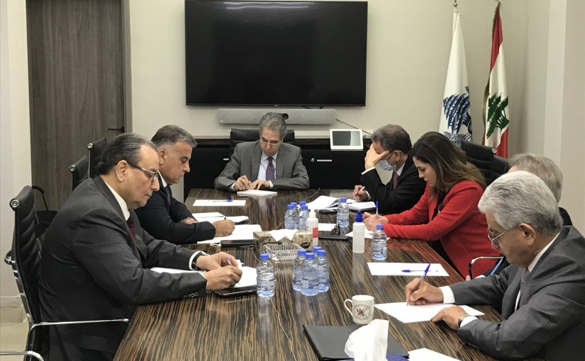 Minister Ghazi Wazni meets Minister Manal Abdel Samad with a Delegation