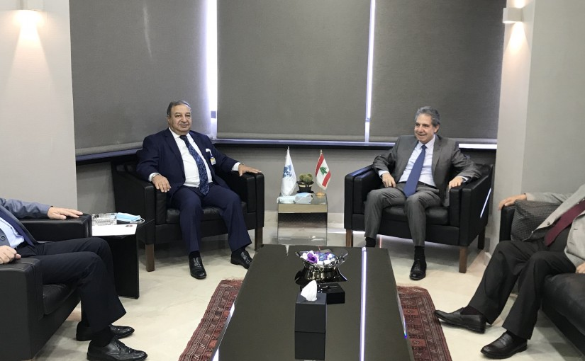 Minister Ghazi Wazni meets a Delegation from Press Order