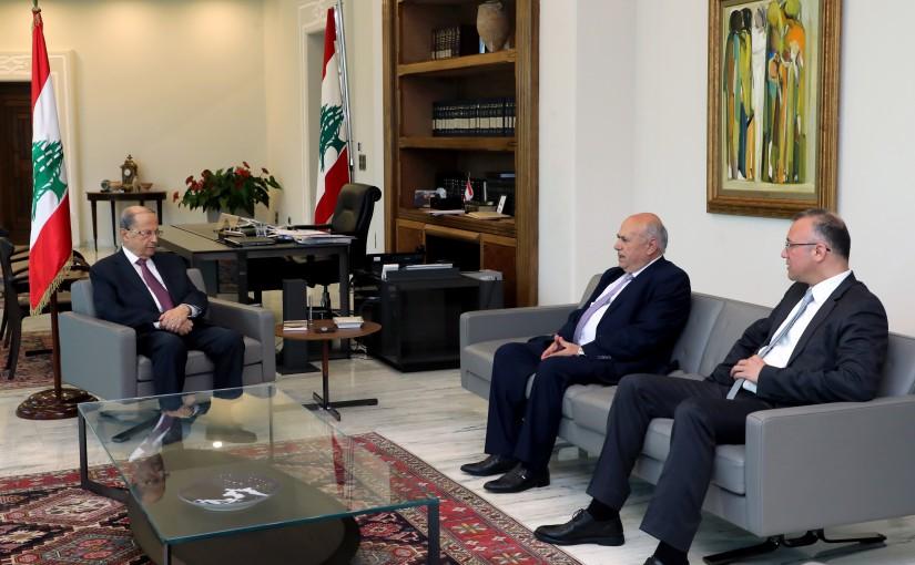 President Michel Aoun Meets  MPs Mostafa Hussein & Ali Darwish