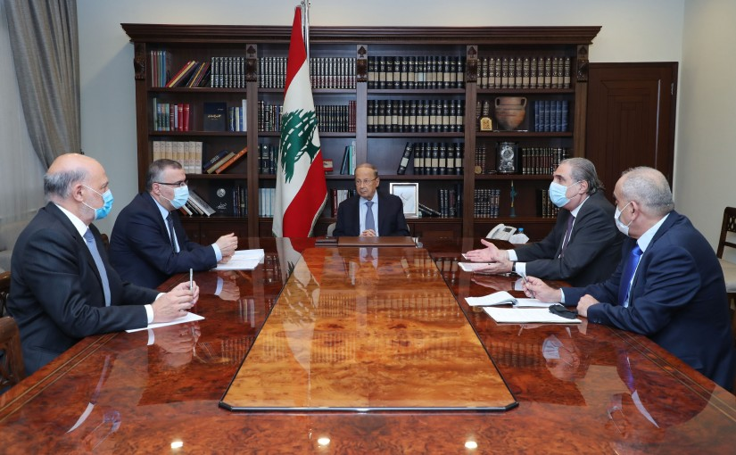 President Michel Aoun Meets Judge Fadi Elias Head of State Council,Former MP Walid Khoury, Former Minister Selim Jreysati,Brigadier General Boulos Matar