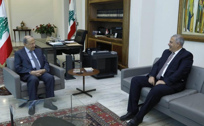 President Michel Aoun Meets Judge Marwan Abboud