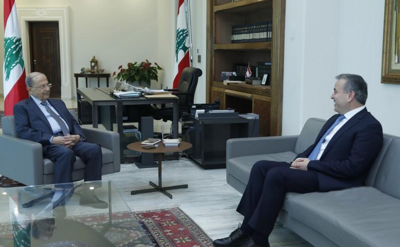 President Michel Aoun Meets MP Asaad Dergham