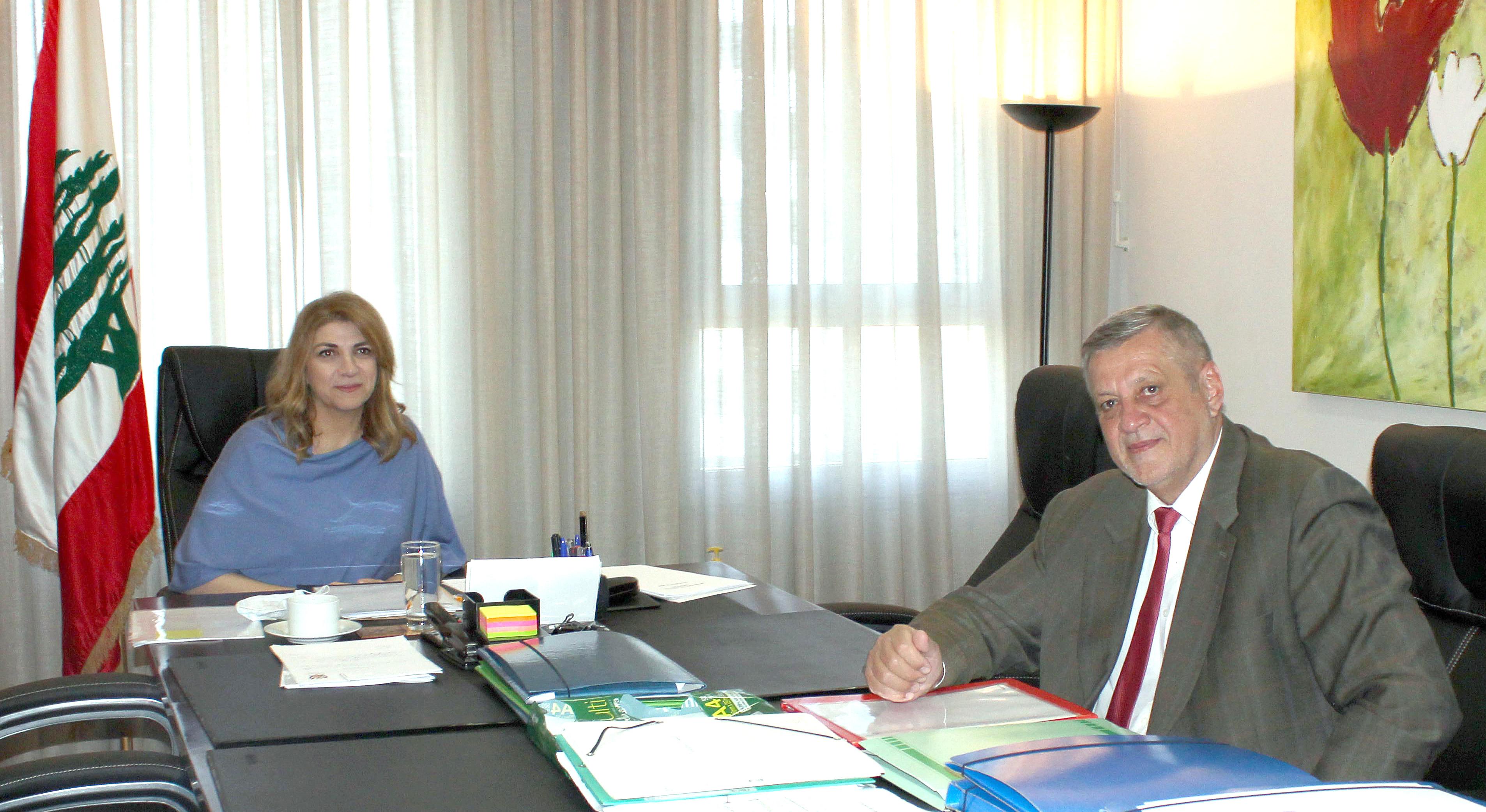 Minister Marie Claude Najem meets Mr Yan Kobish 1