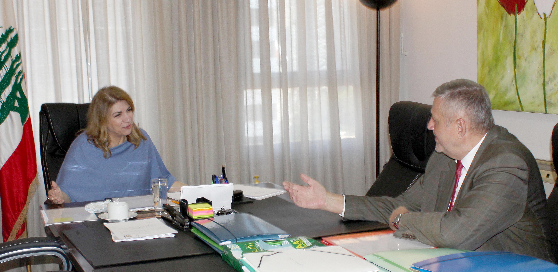 Minister Marie Claude Najem meets Mr Yan Kobish