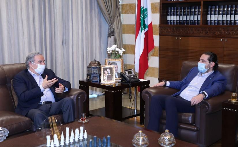 Former Pr Minister Saad Hariri meets Former Minister Michel Pharaon