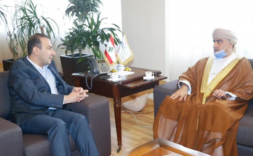 Minister Abass Morthada meets Oman Ambassador