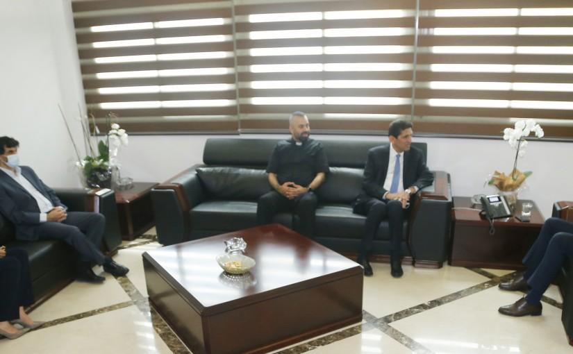 Minister Hassan Hamad meets MP Joseph Isshac