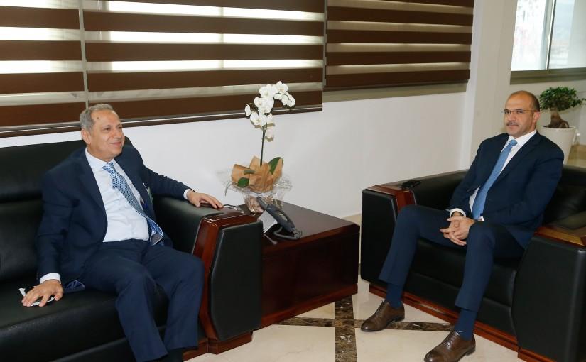 Minister Hassan Hamad meets Former MP Adnan Trabolsi