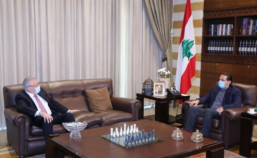 Former Pr Minister Saad Hariri meets Former MP Ahmad Fatfat