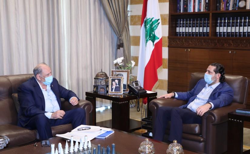Former Pr Minister Saad Hariri meets Former Minister Jamal Jarrah