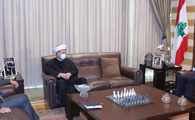 Former Pr Minister Saad Hariri meets Sheikh Taleb el Joumaa