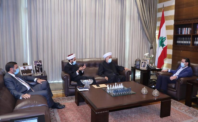 Former Pr Minister Saad Hariri meets Sheikh Ghassan Lakiss