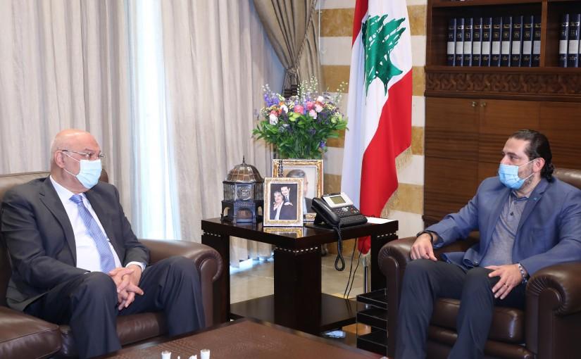 Former Pr Minister Saad Hariri meets MP Bassem Shaab