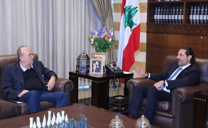 Former Pr Minister Saad Hariri meets Mr Ali Shaar