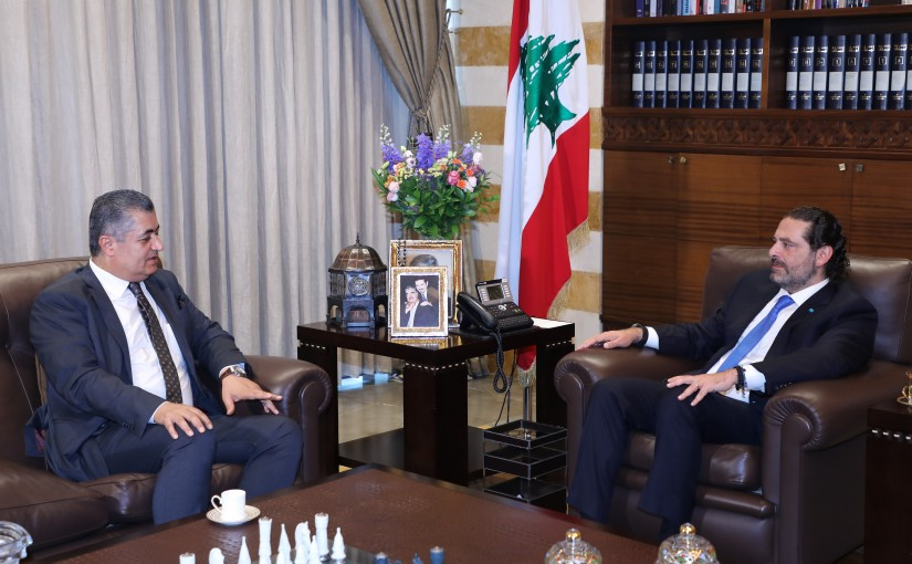 Former Pr Minister Saad Hariri meets Former MP Khaled Zahraman