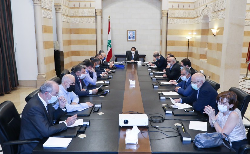 Pr Minister Hassan Diab meets a Delegation from Lebanese 8