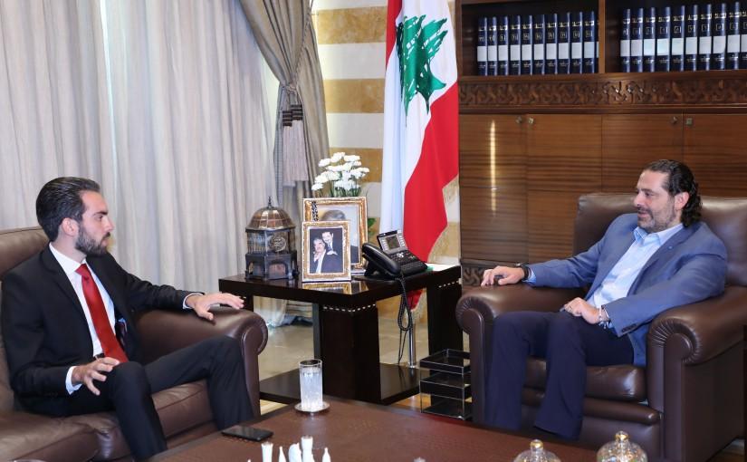 Former Pr Minister Saad Hariri meets Mr Elie Saliba