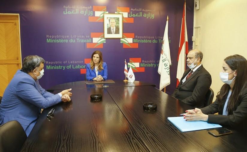 Minister Lamya Yamine meets Indian Ambassador