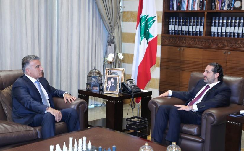 Former Pr Minister Saad Hariri meets Mr Abass Ibrahim