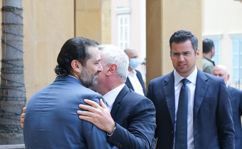 Former Pr Minister Saad Hariri meets Former MP Sleiman Franjieh