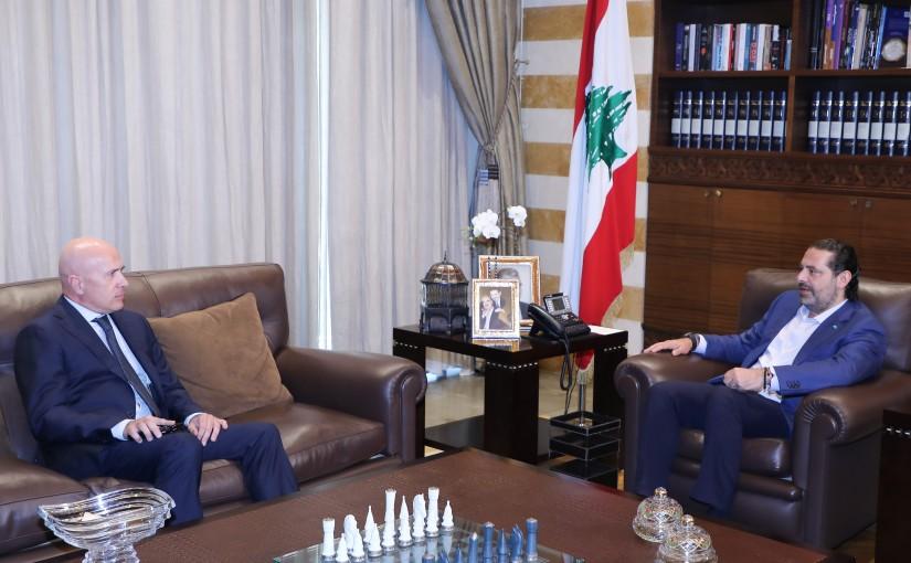 Former Pr Minister Saad Hariri meets Argentina Ambassador