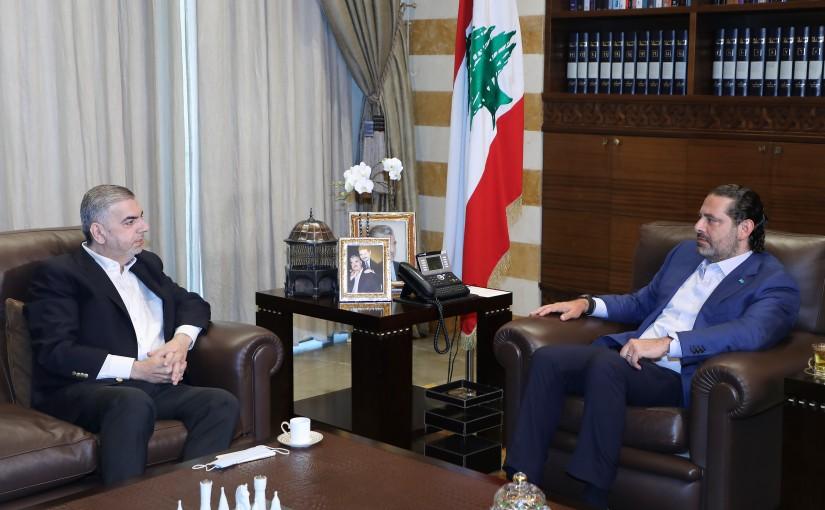 Former Pr Minister Saad Hariri meets Head of Bebnin Municipality