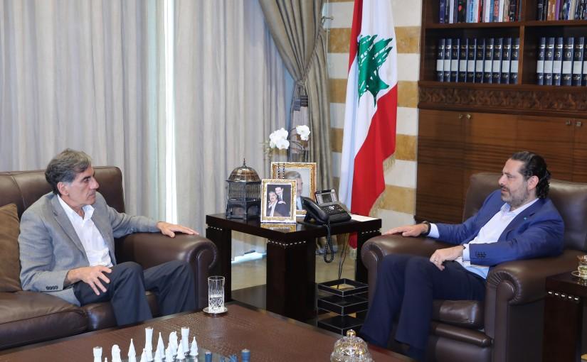 Former Pr Minister Saad Hariri meets Former MP Abdallah Hanna