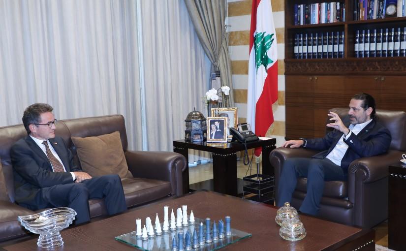 Former Pr Minister Saad Hariri meets German Ambassador