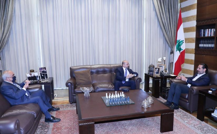 Former Pr Minister Saad Hariri meets Mr Mohamad Jouzo