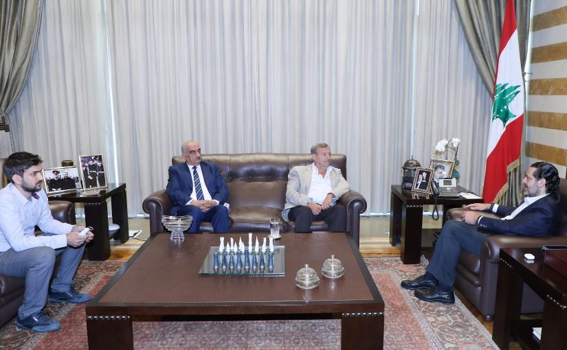 Former Pr Minister Saad Hariri meets Head of Baassir Municipality