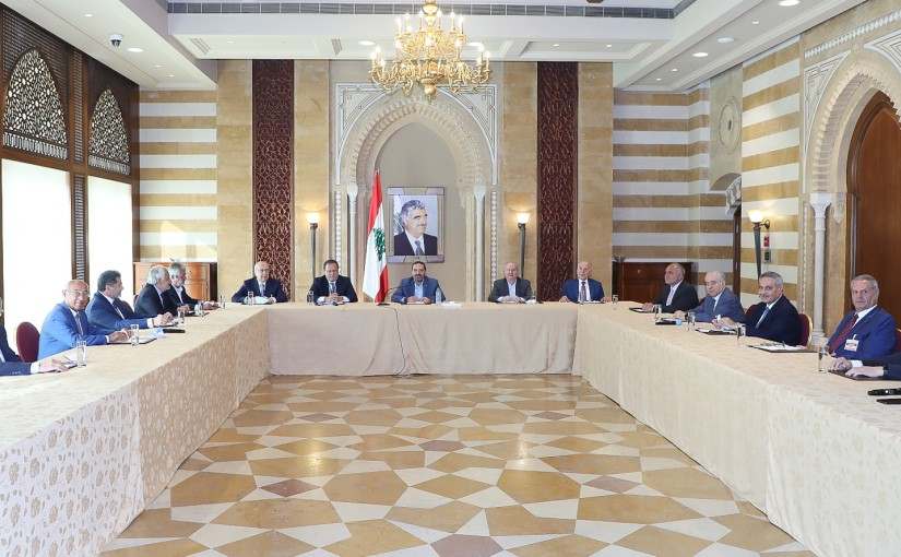 Pr Minister Saad Hariri meets a Delegation from Economical Syndicate