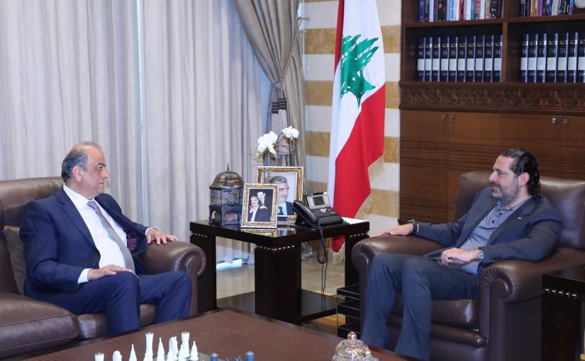 Former Pr Minister Saad Hariri meets Mr Abed Khoder
