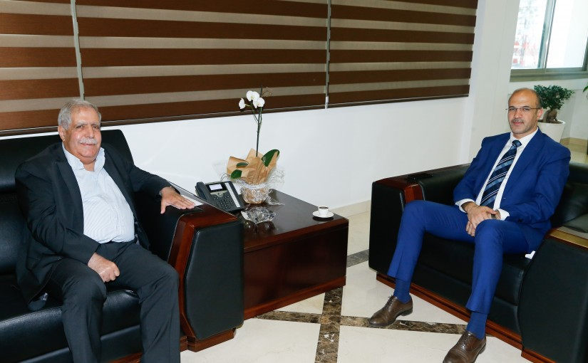 Minister Hassan Hamad meets Former MP Faysal Daoud