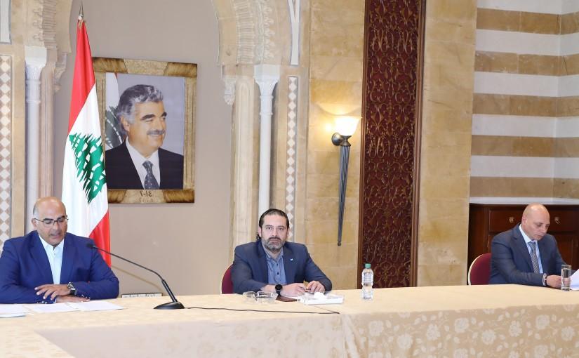 Former Pr Minister Saad Hariri meets Mr Fady Fawaz with a Delegation