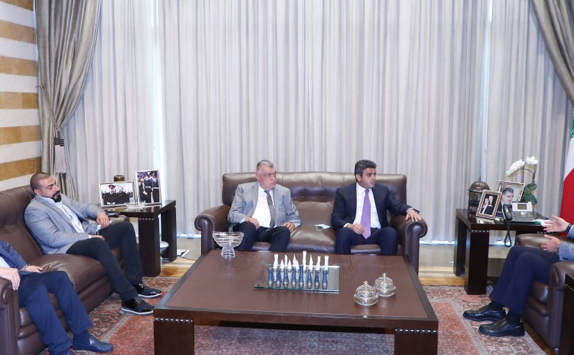 Former Pr Minister Saad Hariri meets MP Ziad Hawat with a Delegation