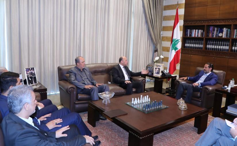 Former Pr Minister Saad Hariri meets a Delegation from Hamas