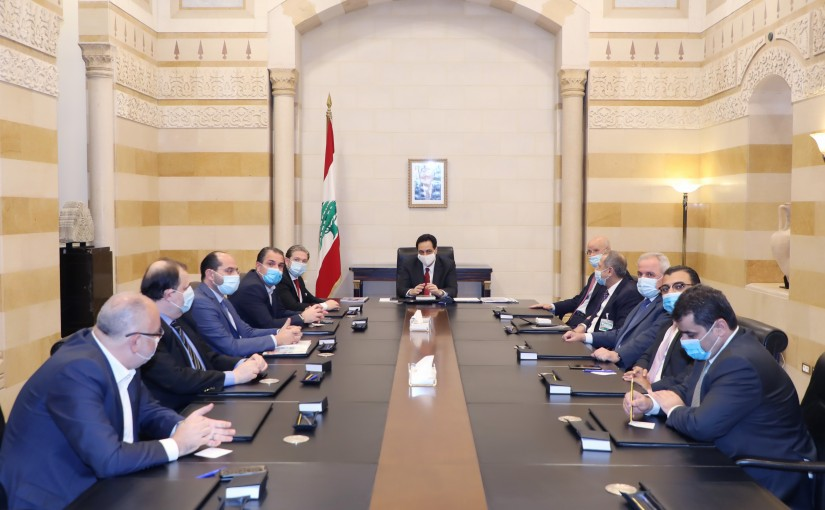 Pr Minister Hassan Diab meets a Delegation from Gathering Bloc