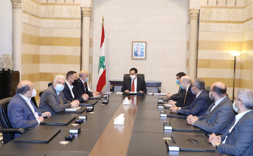 Pr Minister Hassan Diab meets a Delegation from Tripoli