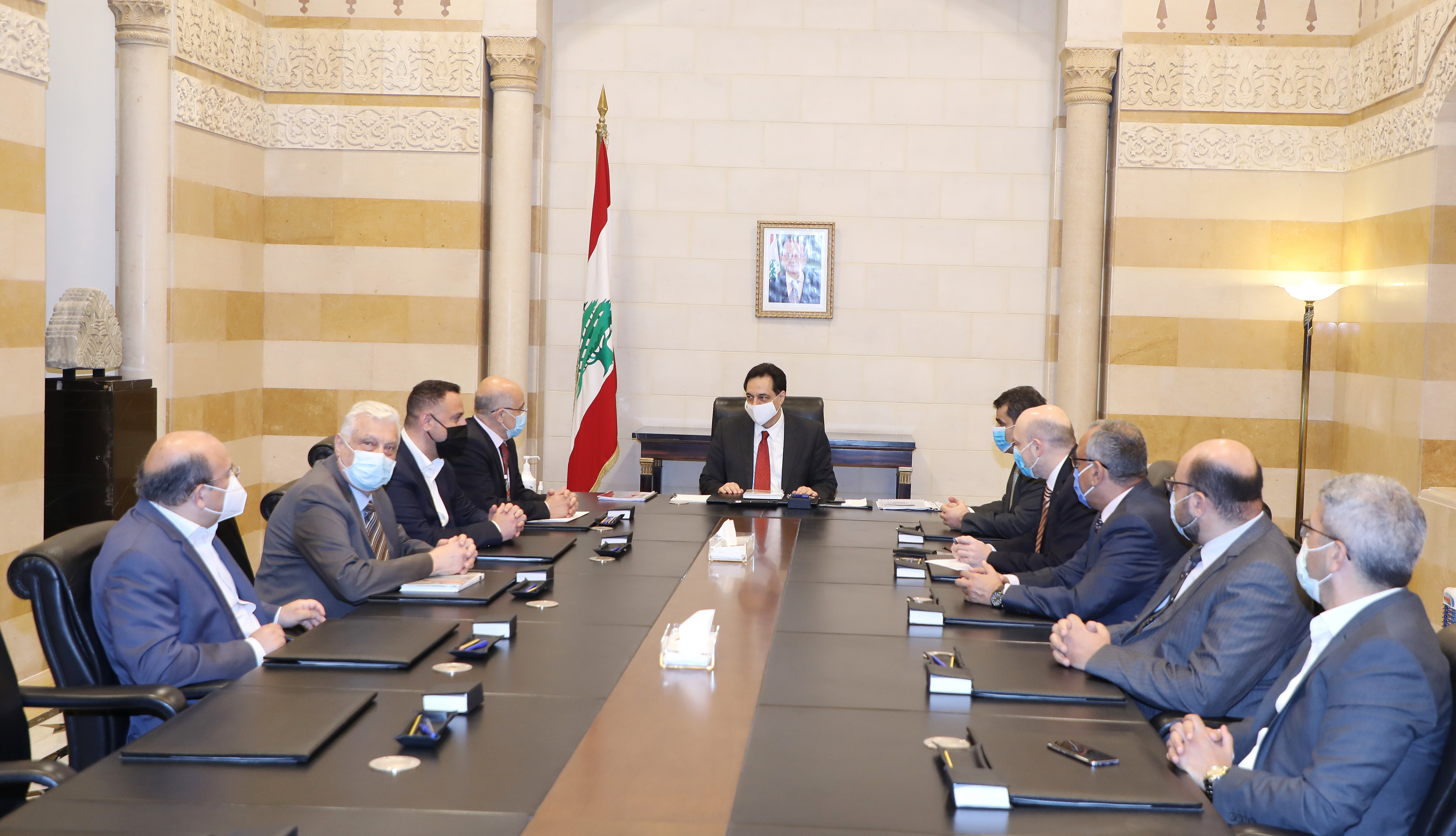 Pr Minister Hassan Diab meets  a Delegation from Tripoly