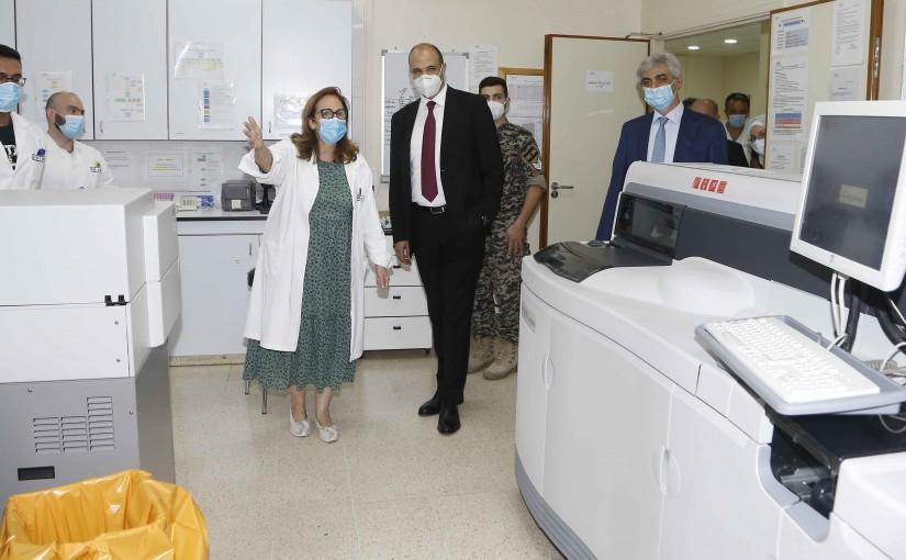 Minister Hassan Hamad Visits hopital hotel dieu