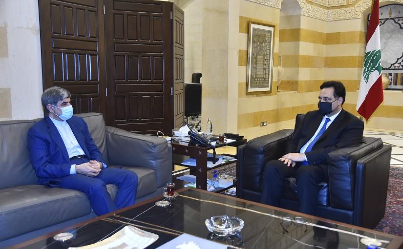 Pr Minister Hassan Diab meets Iranian Ambassador