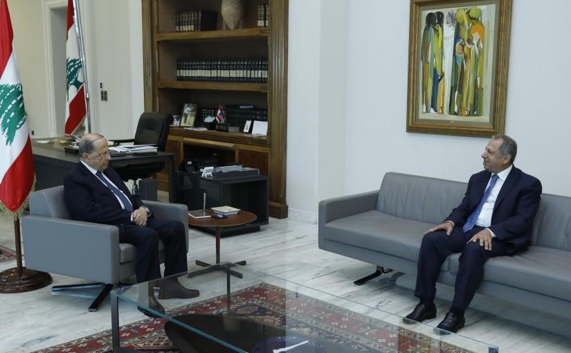 President Michel Aoun Meets MP Adnan Trabolsi